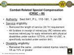 combat related special compensation crsc iii