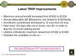 latest trdp improvements