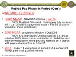 retired pay phase in period con t