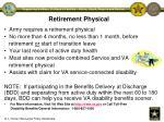 retirement physical