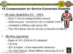 va compensation for service connected disability