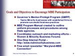 goals and objectives to encourage mbe participation6