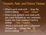 present past and future tenses35