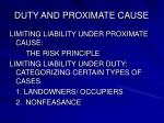 duty and proximate cause