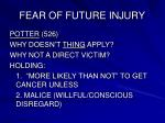 fear of future injury