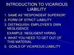 introduction to vicarious liability