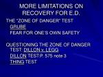 more limitations on recovery for e d