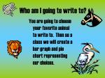 who am i going to write to