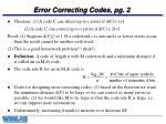 error correcting codes pg 2