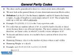 general parity codes