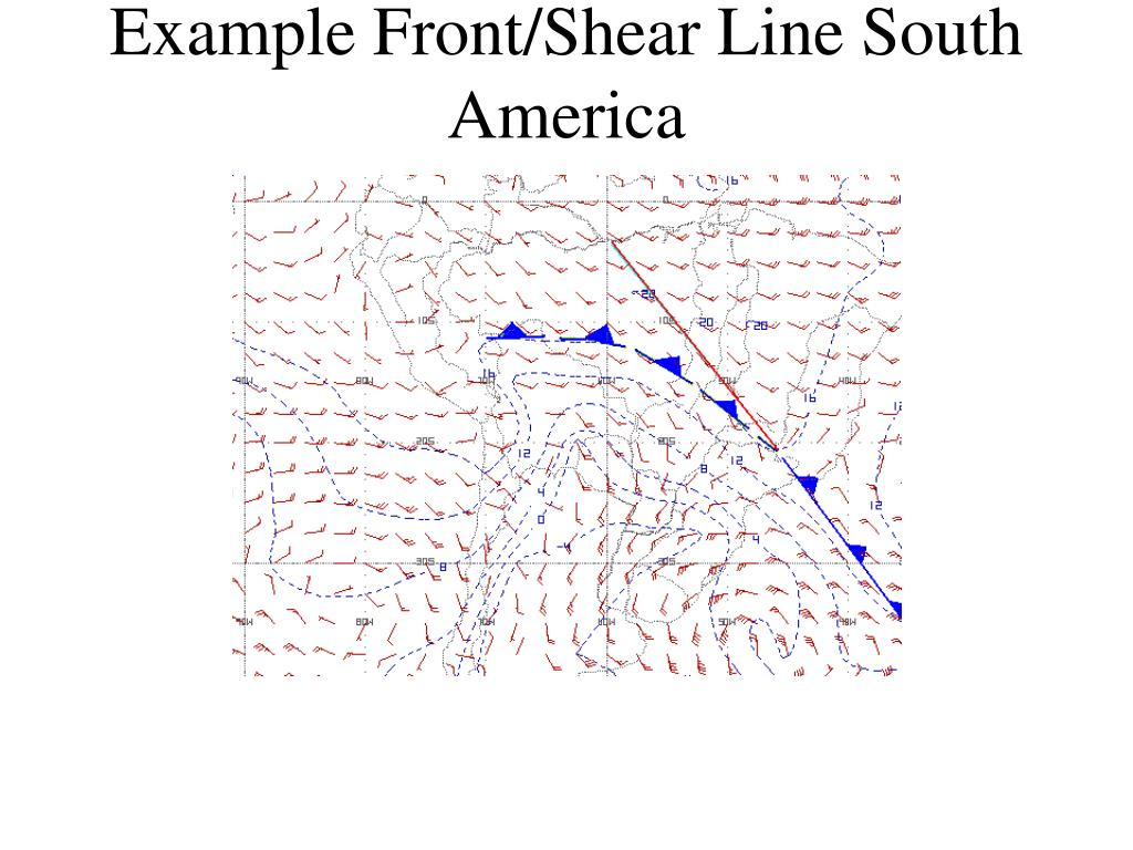 Example Front/Shear Line South America