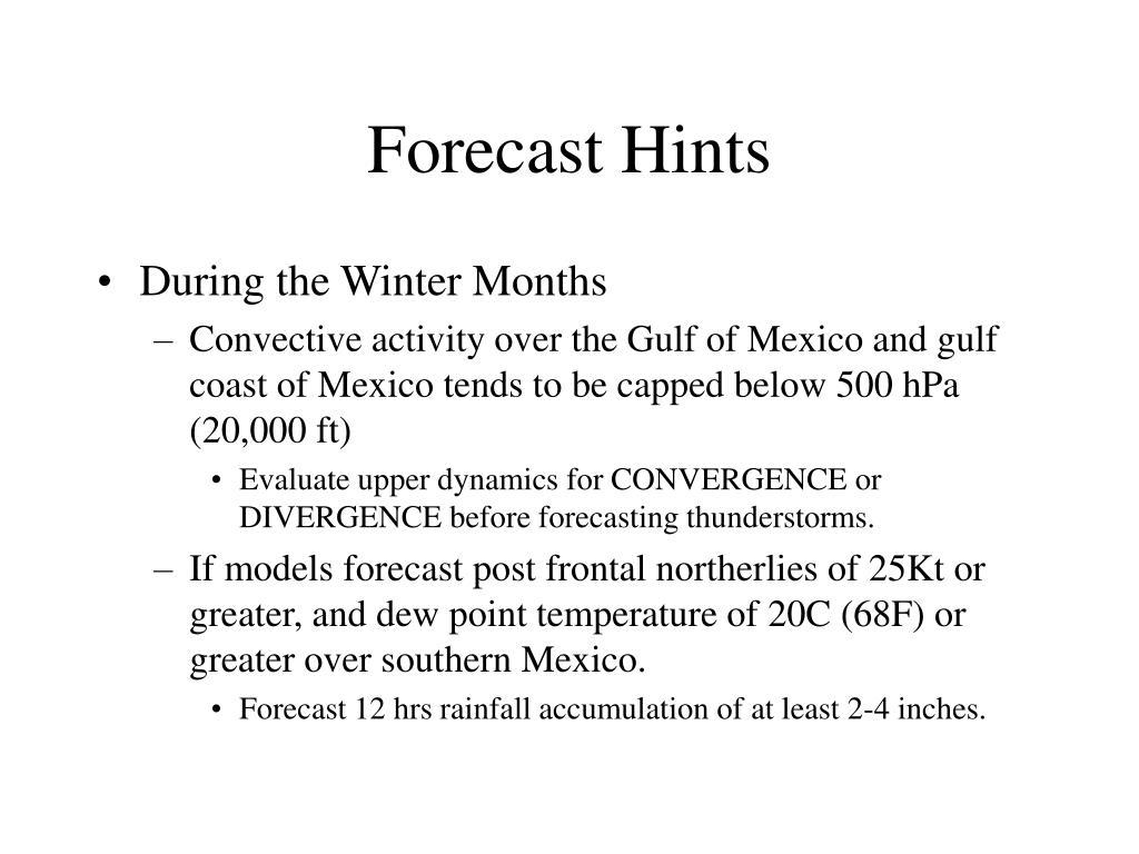 Forecast Hints