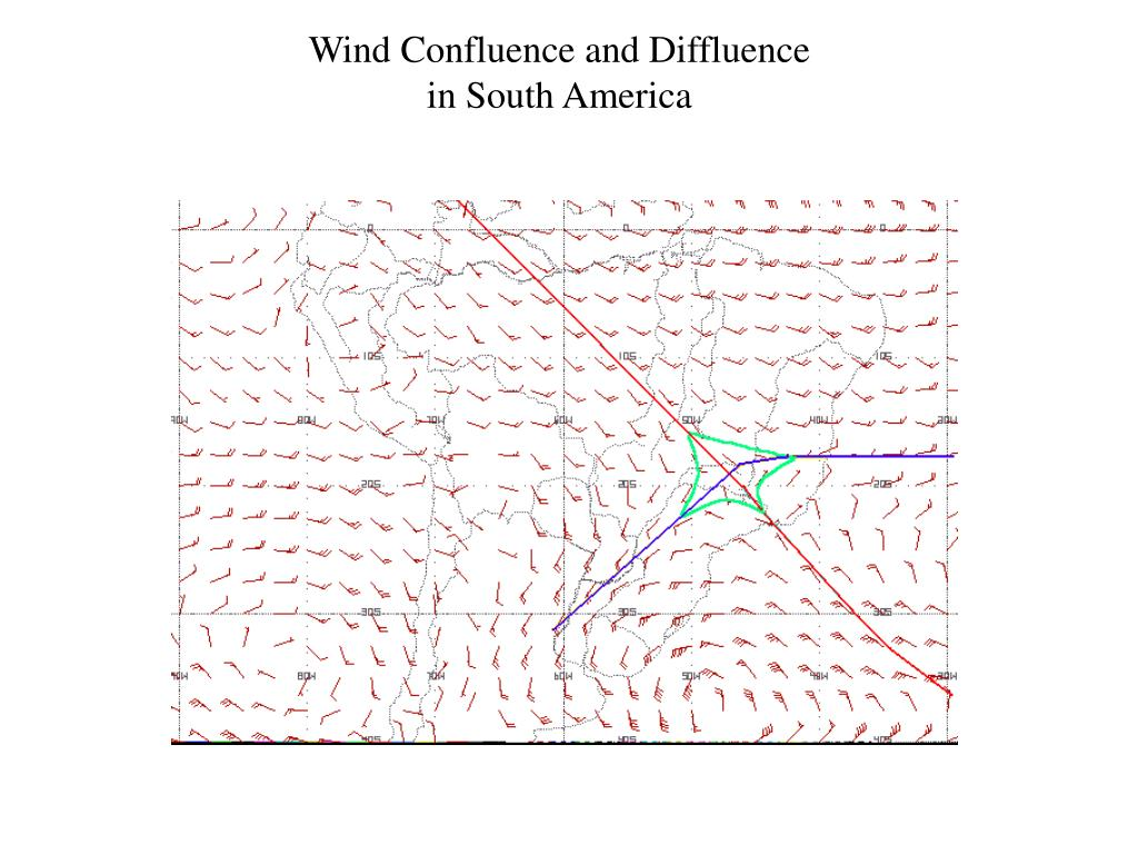 Wind Confluence and Diffluence