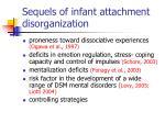 sequels of infant attachment disorganization