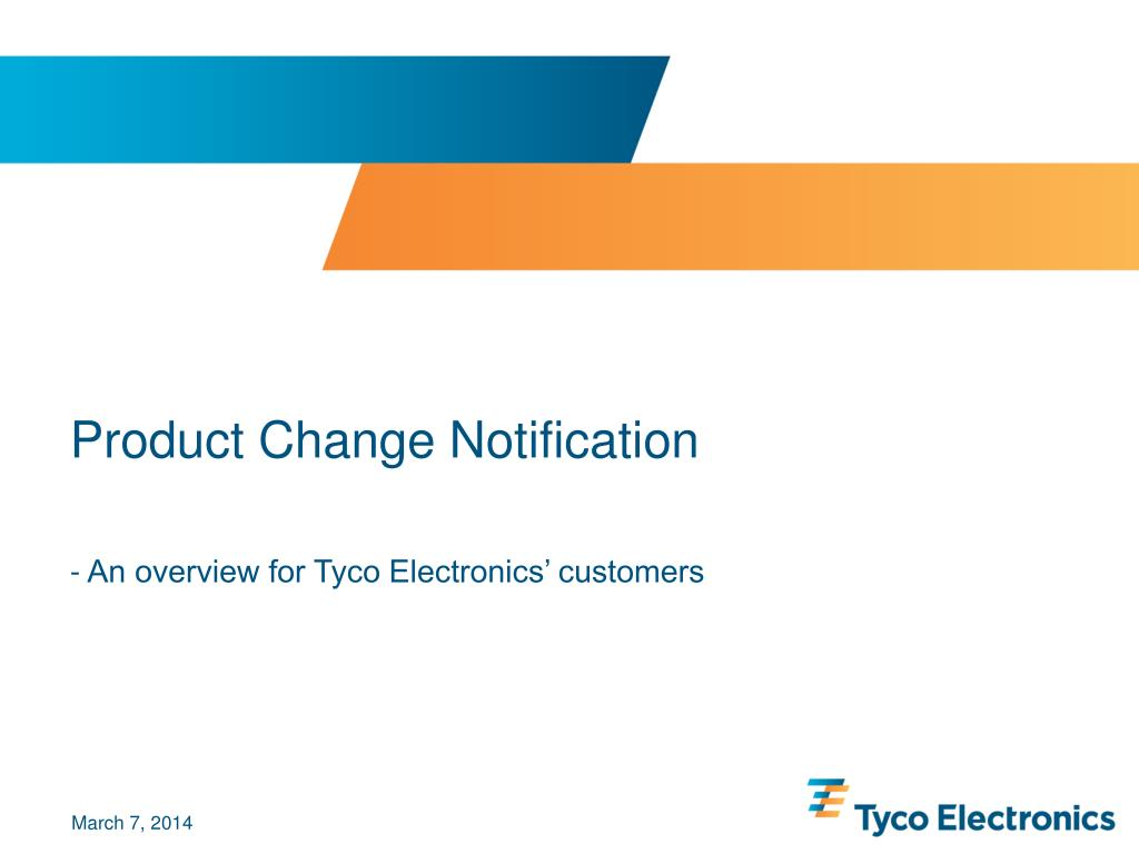 product change notification l.