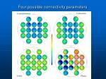four possible connectivity parameters