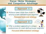 focus niche strategies and competitive advantage