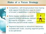 risks of a focus strategy