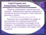 listed property and substantiation requirements