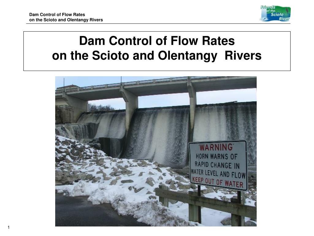 dam control of flow rates on the scioto and olentangy rivers l.