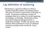 lay definition of stuttering