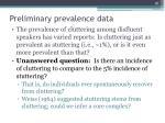 preliminary prevalence data