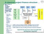 a classical project finance structure