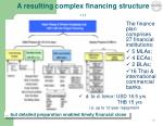a resulting complex financing structure