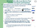 diverse eca mla and bla thai commercial banks participation