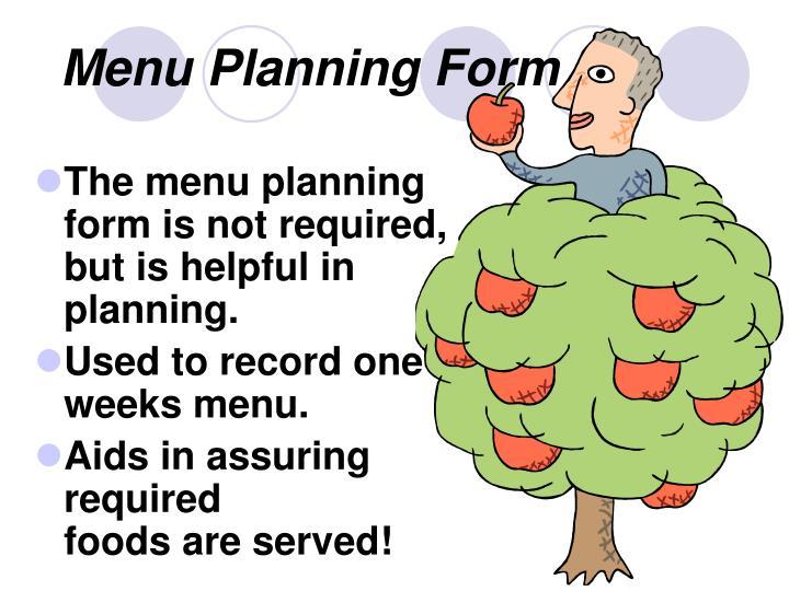 Menu planning form3