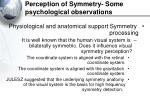 perception of symmetry some psychological observations40