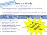 exemplar wards using bics in daily work