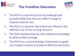the frontline outcomes
