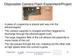 disposable camera flash experiment project