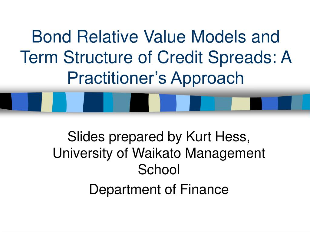 bond relative value models and term structure of credit spreads a practitioner s approach l.