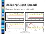 modelling credit spreads23