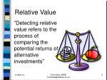 relative value