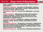 blogs active writing spaces