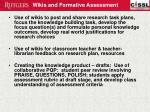 wikis and formative assessment
