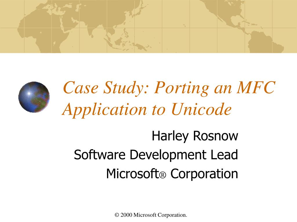 case study porting an mfc application to unicode