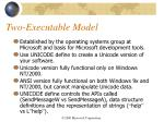 two executable model