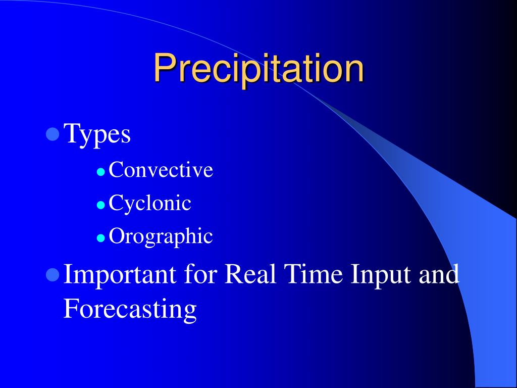 precipitation l.