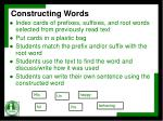 constructing words