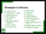 strategies to discuss