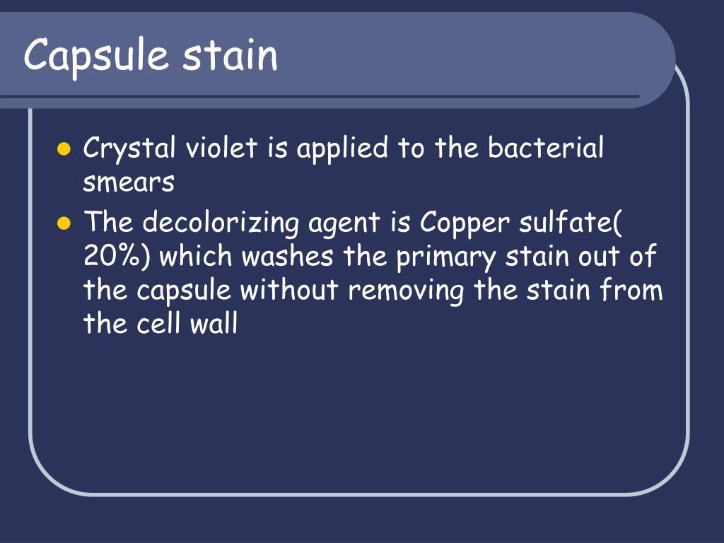 Capsule stain