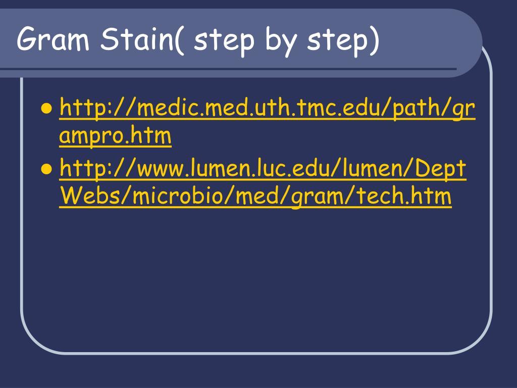 Gram Stain( step by step)