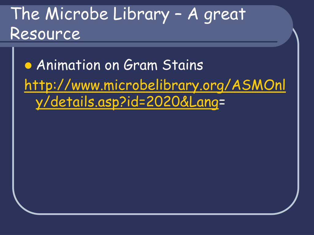 The Microbe Library – A great Resource