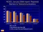 nces january 2000 report reported barriers to telecommunications
