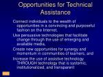 opportunities for technical assistance