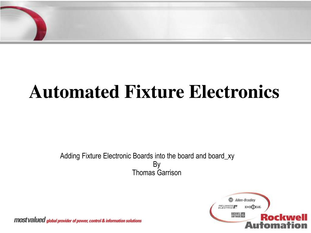 automated fixture electronics l.